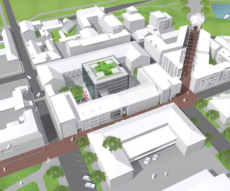 Akadeemiline projekt - Pärnu kesklinna Planeeringuala. Anne Strati Arhitektuuribüroo.